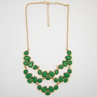 Minimum Order $20 (mixed order) Bib Statement Necklace   (3 pieces/lot) 18K Gold Plated Hot Sale