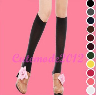 Original Packing Zocks Girls Velvet Nylon Knee High Stockings Sports Socks Women's Tights ZK3100(China (Mainland))