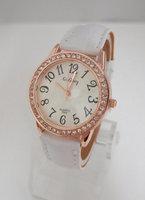 Wholesale women wristwatches ladies rhinestone fashion leather strap quartz watch Women watches nw418