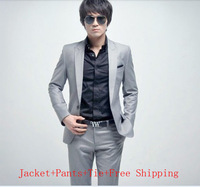 Hot Sale High Quality Korean Style Bridegroom Slim Suits  Men's Business Suits   White-collar Uniforms Men  Plus Size XXXL