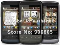 Original unlocked Touch2 T3333 Mega WM 6.5 3G WIFI GPS Windows mobile 6.5 Russian Spanish Free shipping