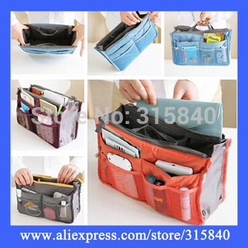 1pc New 2014 Fashion Solid Cosmetic Bags Women Travel Organizer Handbag Storage Bag Makeup Bag -- BIB28 Wholesale