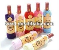 Factory whosale price!!!  fashion grape wine towel cake 100% microfiber 33*73cm towels gift