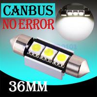 C5W 36mm 3 SMD Pure White Dome Festoon CANBUS Error Free Car LED Bulbs Light Lamp Interior Lights parking car light source