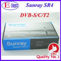 2015 Newest Sunray SR4 800hd SE 3 in 1 tuner -T2 -C -S(2S) Triple tuner wifi SIM2.10 Sunray4 d13 fedex European free shipping