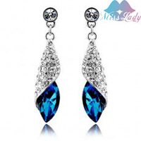 MIX Min Order 15 USD 2013 new  Wholesales 18K Gold Plated Fashion Jewelry  brand long Crystal Water Drop Earrings for women 4156