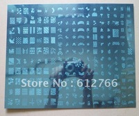 Free shipping -  big template image plate A &B template nail stamp
