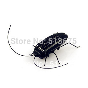 Solar Power Robot Insect Bug Locust Cockroach Toy kid solar grasshopper toy cars science toys kids READ novel creative gifts(China (Mainland))