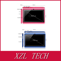 3000mA Battery Top Rated XZL Cheapest Q88 7 inch andriod tablet pc WIFI Multi Touch,G Sensor,Camera (Can make yourself's logo)