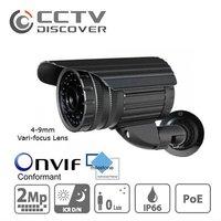 CCTV 2.0 Megapixel PoE Network Onvif Compatible IR IP Camera with 4-9mm Varifocal Len