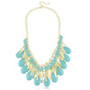 New Gold Tone Multi Layers Resin Bib Statement Necklaces for 2013 Mixed Colors Free Shipping