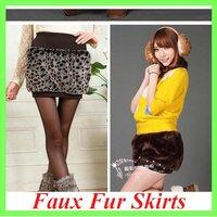 Fashion Rabbit Faux Fur Short Skirt Casual Thick Women's Clothing/Wholesale/Retail/Free Sale/OEM