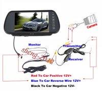 "7"" LCD MONITOR+WIRELESS REVERSE CAMERA CAR REAR VIEW WIRELESS 2.4 G CAMERA kelisha"