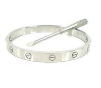 free shipping 100% positive feedback & gurranteed Lovers bracelets  rose gold screws bracelet   titanium steel lover bangles