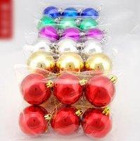 30pcs/lot 6cm the electroplating light ball Christmas ball Christmas party tree decorations(6 pcs/bag)