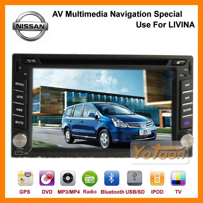 car dvd player for Nissan LIVINA,Car DVD player / 6.2'' GPS Navigation System Car DVD player Special Use for Nissan LIVINA(China (Mainland))