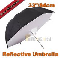 "33""/84cm Studio Umbrella Softbox Reflector Softbox Reflective umbrella with carrying bag free shipping"