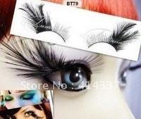 New Black False Eyelashes Party Costumes Fake Lashes makeup tool Feather eyelash