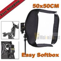 "50x50cm(20"") Foldable Flash EASY SOFTBOX Portable SoftBox for Speedlite Flash Light"