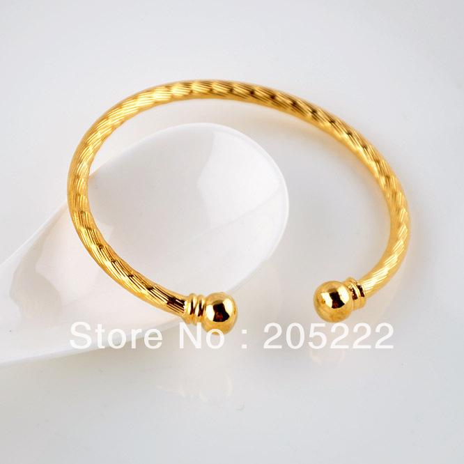 Bangle Bracelets Gold Gold Filled Open Bangle