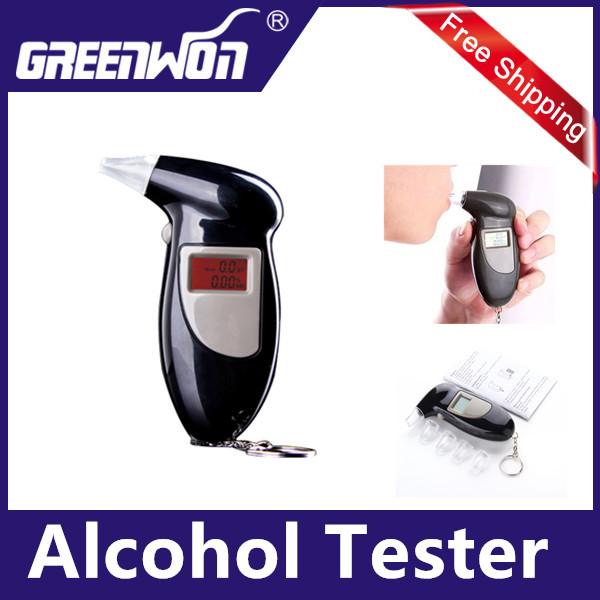 Alcootest Ethylotest Digital Ecran Eclaire avec 4 embouts ethylometre testeur alcool,Digital Breath Alcohol Tester Breathalyzer(China (Mainland))