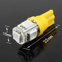 Free Shipping T10 5 SMD 194 W5W led 5050 Wedge Light Bulb Lamp Yellow Green Red Pink available