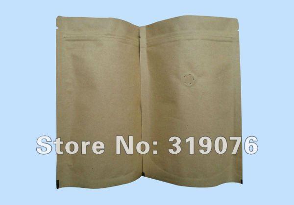 Fabbrica direttamente la vendita ingrosso mestiere foglio di sfiato caffè sacchetti di imballaggio, chicco di caffè valvole sacchetti sacchetto