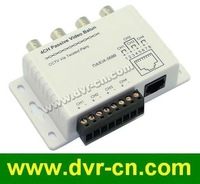 4 Channel CCTV BNC Video Balun, RJ45 port or Terminal Block, UTP Cable transfer, Plug and Play, 4 pcs/lot