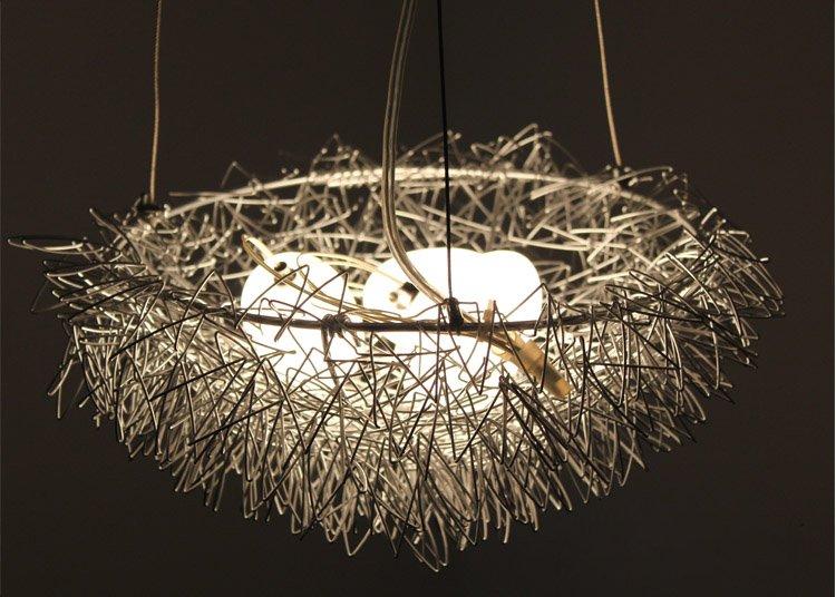 Lamp Babykamer Plafond : Bird Nest Chandelier Light