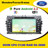 Android Car DVD PIayer with GPS, 512M RAM, BT, RADIO, IPOD, USB/SD for Ford Mondeo, S-Max+Optional DVB-T, 3G, Wifi