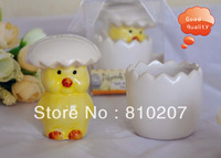Free Shipping  100pcs lot About to Hatch Chicken Salt and Pepper Shakers Baby shower favors