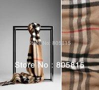 Free shipping Brand Design Classic 100% cashmere wool Plaid scarf&shawl,185cm*30cm beige camel black gray scarves
