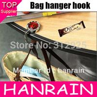 Hot Sale 1pcs/lot Fashion 8 Color Crystal Metal Foldable Bag Hanger/Purse Hook/Handbag Holder with Acrylic