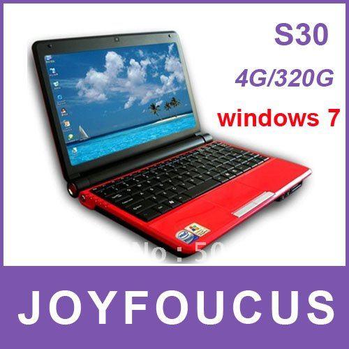 10.2 inch Mini Laptop+Windows XP/7+4GB RAM+320GB HDD+Intel Atom D2500 1.80GHz Netbook  umpc  PC  ...