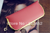 Candy color high quality Pu leather women's long zipper clutch bag,hot ladies designer Purse, free shipping,promotion!!!