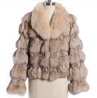 Free shipping! 2014 new winter Classic 100% real natural pure blue fox fur coat overcoat short self-shade fox fur coat