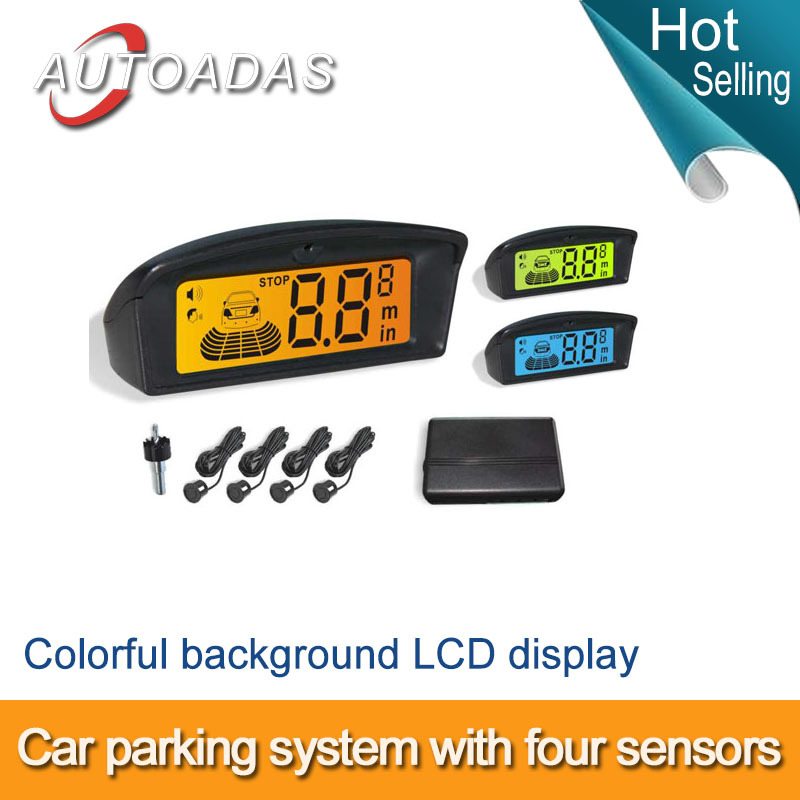 Freeshipping parking sensor , Ultra slim dash mounted LED display ,buzzer alarm,orange and blue background,car styting,camera(China (Mainland))