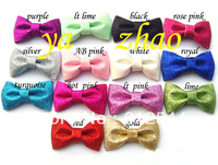 3''  glitter bows, baby hair bows, free shipping by EMS Express  14colors in stock 500pcs/lot