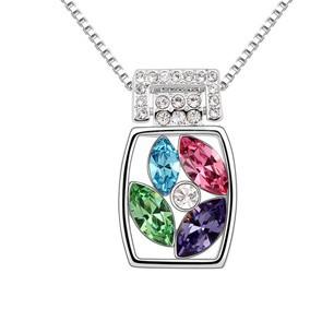Grátis frete colar de cristal das mulheres moda Rhinestone pingentes Mysterious frascos N---6453(China (Mainland))