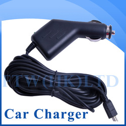 Wholesale Retail Long USB car charger,travel charger Used for F500 F900 GS1000 K2000 Or other item car DVR GPS(China (Mainland))