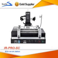Free shipping Solder Station Scotle IR PRO SC V4 IR-PRO-SC Dark Infrared BGA Rework Station with Pump Suction Pen