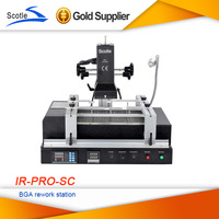 Free shipping Solder Station Scotle IR PRO SC V4 IR-PRO-SC Dark Infrared BGA Rework Station with Pump Suction Pen