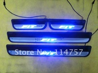 Free shipping led Scuff Plate/Door Sill plate for JAZZ&FIT 2009 factory retail/wholesale price