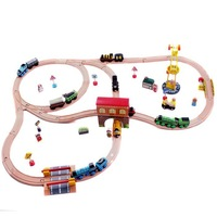 Thomas Wooden TRAIN Train tracks  car toy wooden train wooden toys 10 set track 1 set=32pcs children gift