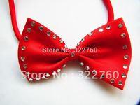 fashion rhinestone Bow Tie Necktie Neck Collar free shipping