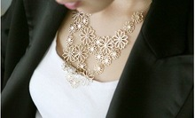 New Arrival Hot Selling Fashion Jewelry  Classic Multilayer flowers necklace N12