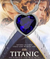 Free shipping Titanic Heart of Ocean Necklace Austria Crystal Pendant Necklace P030
