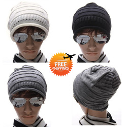 Free Shipping 2012 New Winter Hats For Men Fashion Sport Beanies Warm Russian Hat Women Cap Christmas Winter Beanie(China (Mainland))