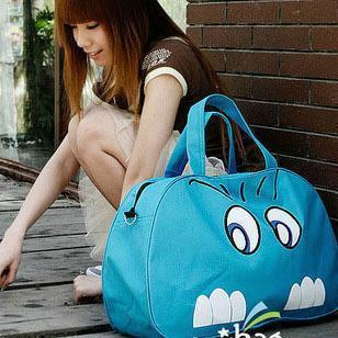 Wholesale Women Fashion Cartoon Portable  Big Travel Bag Large Capacity Handbag Casual Bag,FREE SHIPPING
