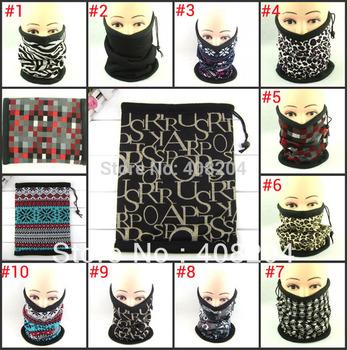 Snowboard Ski Cycling Face Mask double layers polar fleece Neck Warmer men scarf 9 design 5pcs/lot